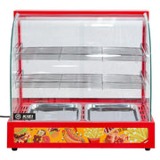 Counter Top Electric Food Warmer 3 Tier Commercial Food Warming Display Cabinet