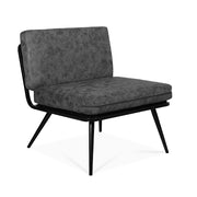 Metal Framed Nubbuck Leather Accent Chair - Lifelook Store