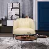 Koyi Vogue Leather Accent Armchair