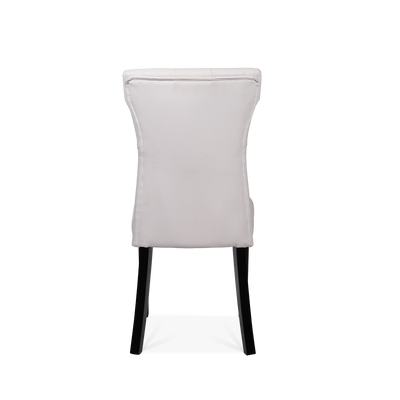Set of 2 Buttoned Leather Dining Chairs - Lifelook Store