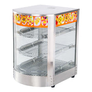 3 Tier Commercial Food Display Warmer Countertop Pie Chicken Heating Showcase