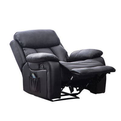 Multi-Functional Heating Massage Leather Recliner Armchair - Lifelook Store