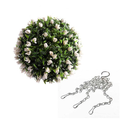 Decoration Artificial Hanging Flower Ball Outdoor Rose,Lily,Berry