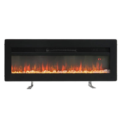 40 Inch Insert/Wall Mounted Electric Fireplace LED Flame with Freestanding Legs