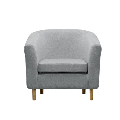 Simple Fabric Tub Chair in Earth Tone - Lifelook Store