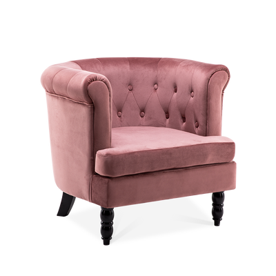 Enchanting Velvet Chesterfield Tub Chair - Lifelook Store