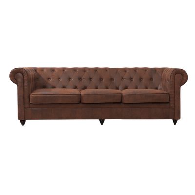 3 Seater King Sofa in Chesterfield Suede Leather - Lifelook Store