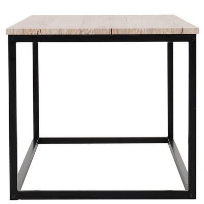 Industrial Style Rectangle Coffee Table Wood Top Desk