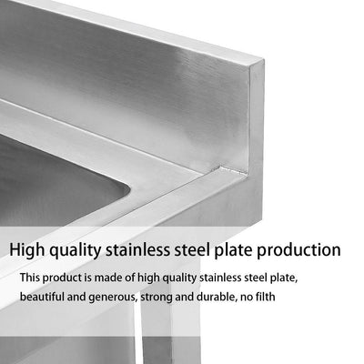 Stainless Steel Double Bowl Catering Sink Kitchen Restaurant