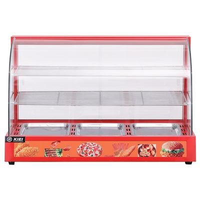 3 Tier Stainless Commercial Food Warmer Pizza Pie Cabinet Display with 3 Plates