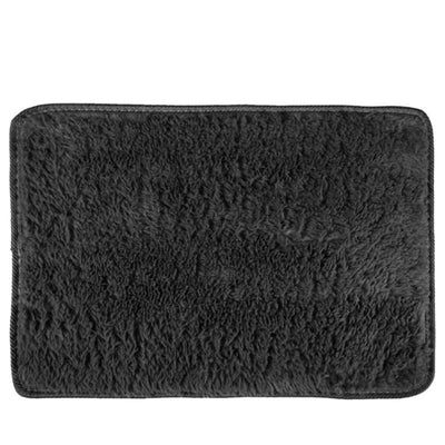 Black Large Soft Rugs  Living Bed Room Floor Carpet Cushion