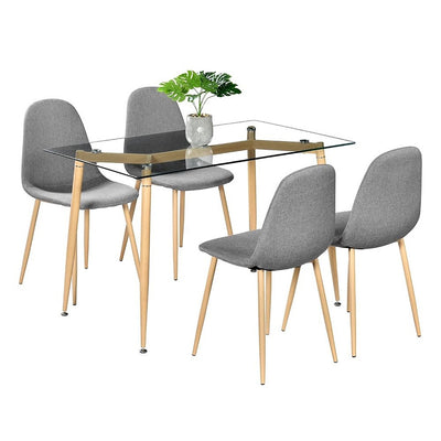 4pcs Scandinavian Modern 4 Chairs Home Kitchen Furniture