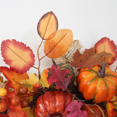 60cm Halloween Autumn Maple Leaf Pumpkin Wreath Door Garland