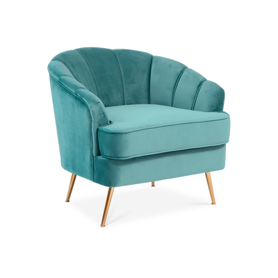 Rose Velvet Accent Tub Chair - Lifelook Store