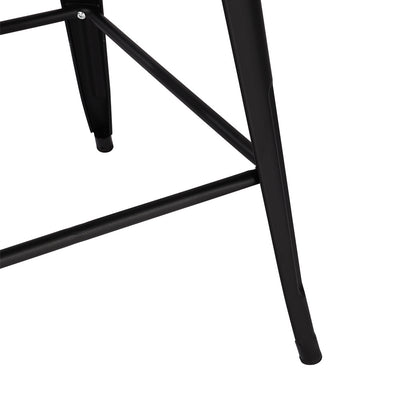 Loft Matte Black Metal Framed Elm Bar Table