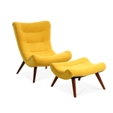 Suede Fabric Pigeon Lounge Chair & Footstool - Lifelook Store