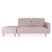 Plain Linen Sectional Sofa & Footstool - Lifelook Store