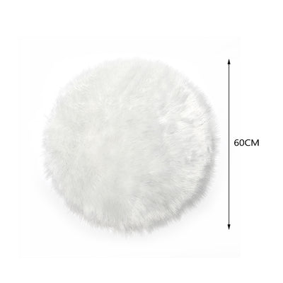 Large Sparkle Fluffy Faux Fur Area Rug Non Slip Glitter Floor Carpet Mat