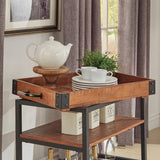Wooden 3-Tier Kitchen Serving Trolley Cart Rolling Wine Storage Rack Table Organiser