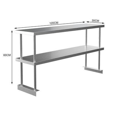 Stainless Steel Over Shelf Commercial Kitchen Storage Top Shelf