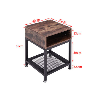 Industrial Bedside Table Nightstand Sofa Side Coffee Table