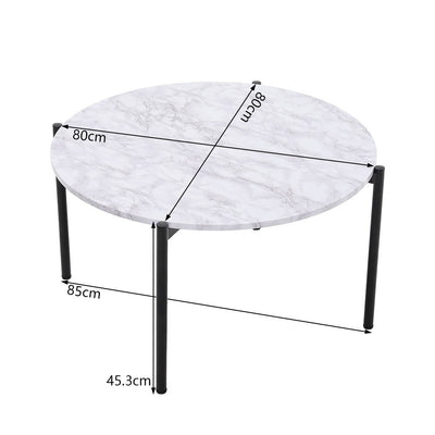 Nordic Style Round Coffee Table Side End Table Living Room Furniture