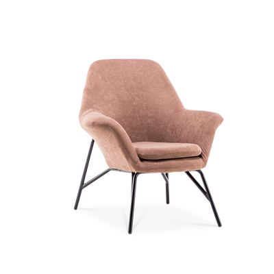 Suede Fabric Detachable Metal Frame Armchair - Lifelook Store