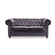 2 Seater King Sofa in Chesterfield Velvet - Lifelook Store