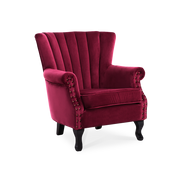 Retro Velvet Lined-back Armchair - Lifelook Store