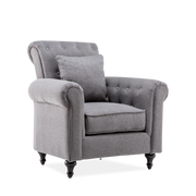 Giant Buttoned Linen Armchair - Lifelook Store