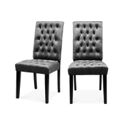 Set of 2 All-buttoned Velvet Dining Chairs - Lifelook Store