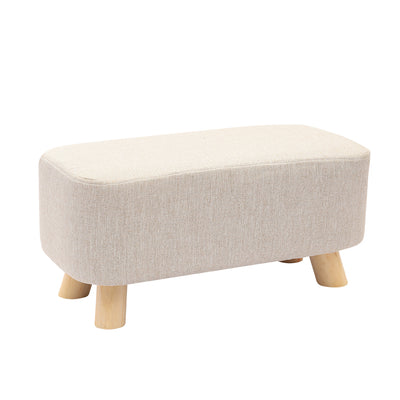 Nordic Small Rectangle Linen Footstool - Lifelook Store