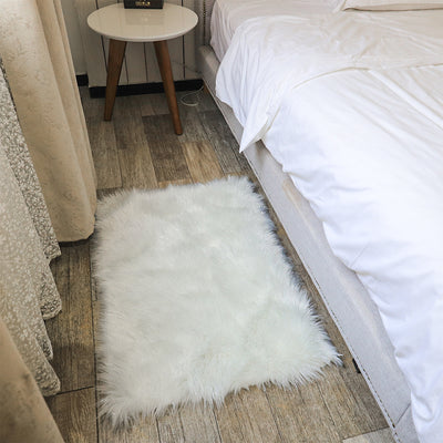 Sparkle Fluffy Faux Fur Non Slip Area Rug Shaggy Glitter Floor Carpet Mat