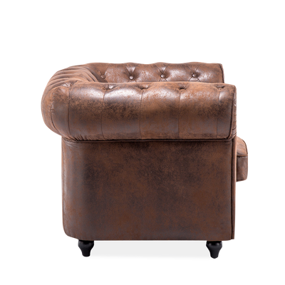 King Armchair in Chesterfield Suede Leather - Lifelook Store