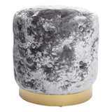 Round Velvet Pouffe Foot Stool Rest Chair Seats Dressing Table Bedroom Footstool