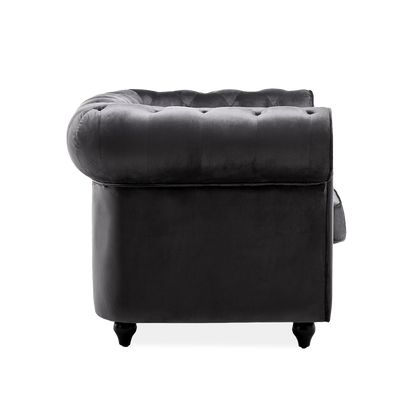 King Armchair in Chesterfield Velvet - Lifelook Store