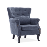 Retro Chesterfield Suede Fabric Armchair - Lifelook Store