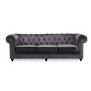 3 Seater King Sofa in Chesterfield Velvet - Lifelook Store