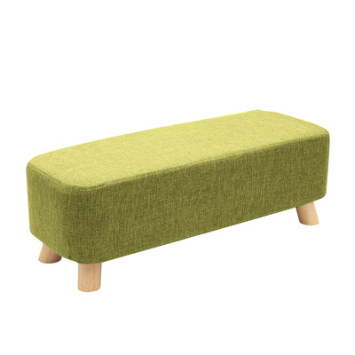Nordic Large Rectangle Linen Footstool - Lifelook Store