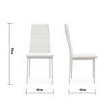 Set of 2 Ladder Leather Dining Chairs