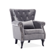 Retro Chesterfield Velvet Armchair - Lifelook Store