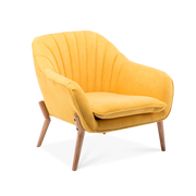 Light Suede Fabric Lined-back Armchair - Lifelook Store