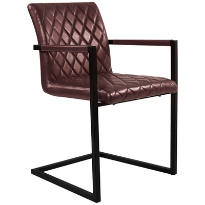 Superior Diamond PU Leather Cantilever Chairs