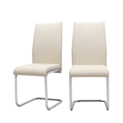 Set of 2 Verline-R Leather Cantilever Chairs - Lifelook Store
