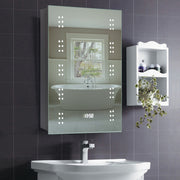 Illuminated Demister Mirror Cabinet with Infrared Sensor Shaver Socket
