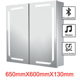 Bluetooth Audio Infrared Sensor LED Mirror Cabinet with Shaver Socket