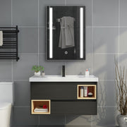 LED Touch Mirror Cabinet with Shaver Socket