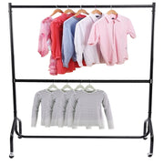 4/5/6ft Home Cloth Rail Hanging Mobile Garment Storage Rack Retail Display Rails