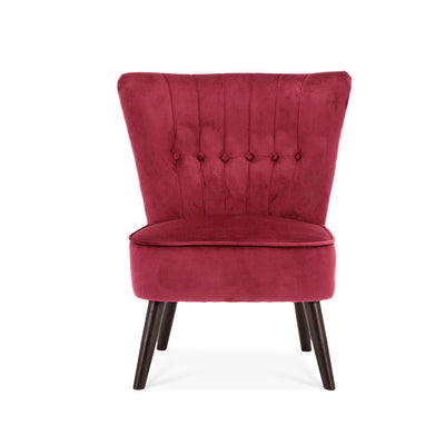 Buttoned Velvet Black-legs Cocktail Chair - Lifelook Store