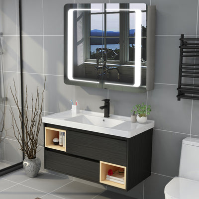 2 Door Bluetooth Audio Sensor Illuminated Mirror Cabinet Shaver Point